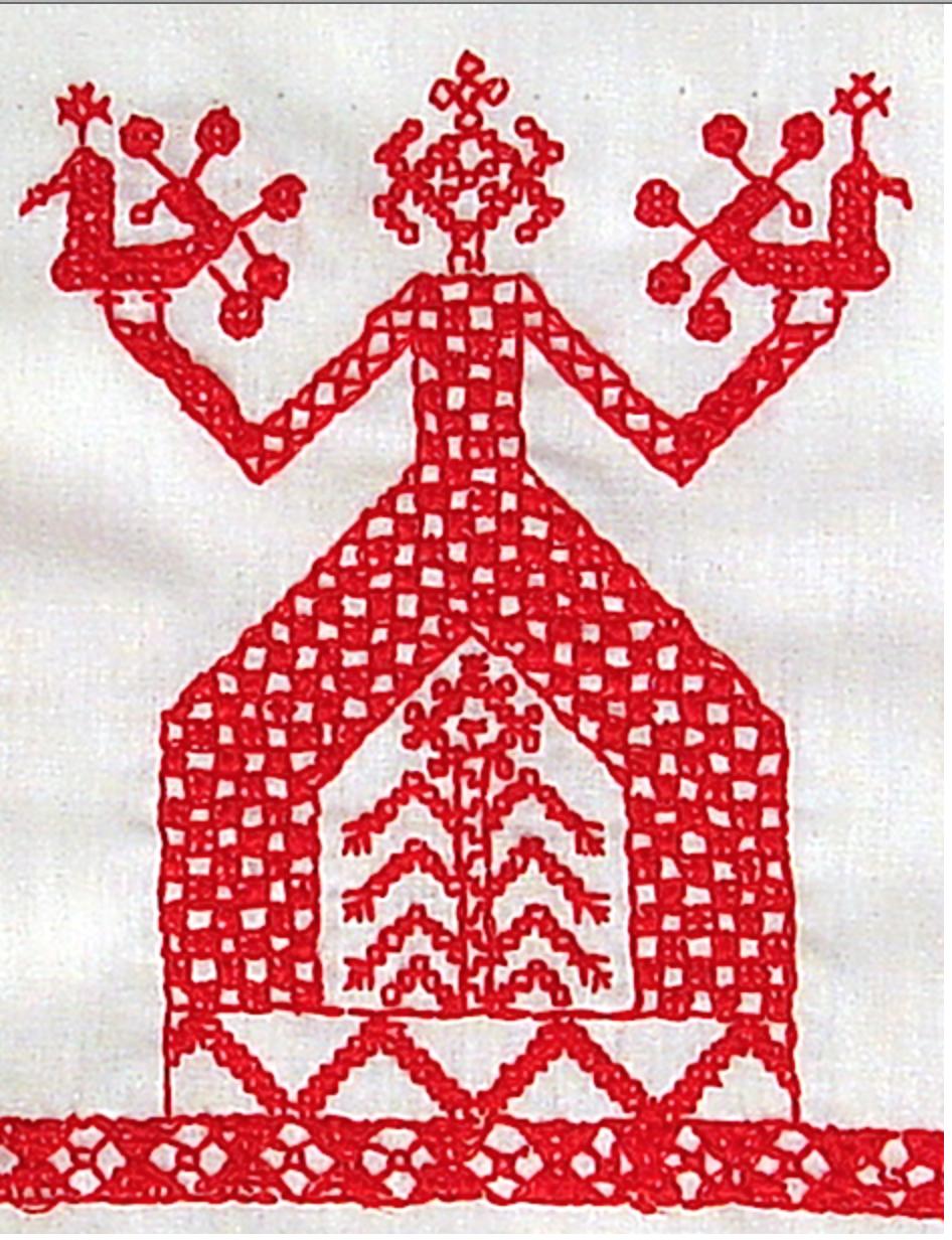Нарисовать русскую народную вышивку