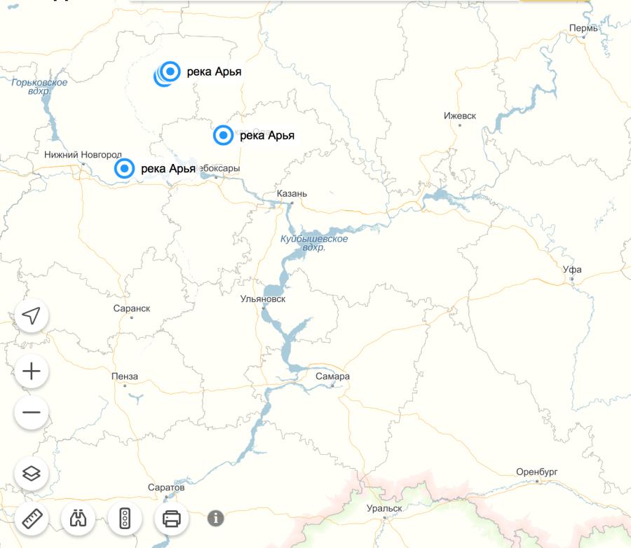 The Arya River in the Nizhny Novgorod area, Russia, is located near the river Samara. ---------- Река Арья в Нижегородской области, Россия, находится недалеко от реки Самара.