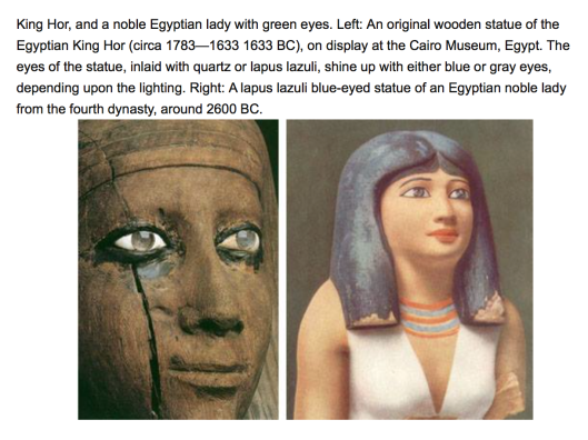 First rulers of Egypt had blond hair and blue or light green eyes. They were Russians, and came to Egypt from the Russian North Pole, Northern Siberia and Northern Urals.