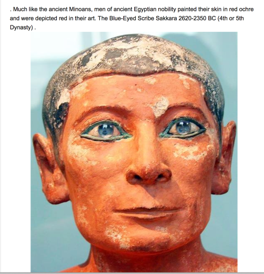 Ancient Egyptians were Russian-Aryans with blonde hair and blue / green eyes.