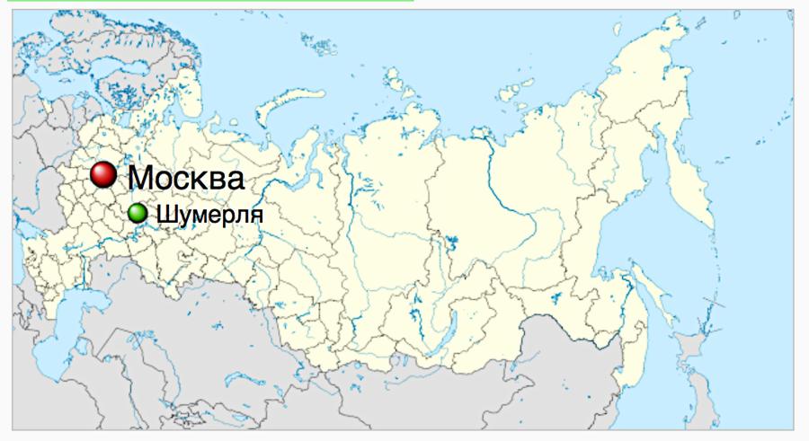 Village / city of Shumerlya in Russia. ---------- Село / город Шумерля в России.