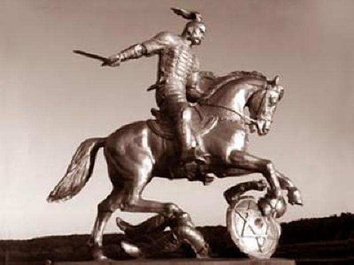 Russian Prince Svyatoslav defeated Khazaria on July 3,  964 AD. ---------- Русский князь Святослав победил Хазарию 3 июля 964 г. н.э.
