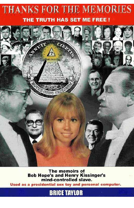 "Kissinger made a mind-slave out of Brice Taylor (also: Arizona Wilder, who wrote a book ""Thanks for the Memories"") via the Satanic Ritual Abuse and was showing her as his personal computer in the elite circles. SRA (Satanic Ritual Abuse) became the foundation for the American MK-Ultra Program for mind control. Girls were raped at the age of three with extreme brutality. The shock caused the brain compartmentalization and, as a consequence, the photographic memory. Kissinger used Brice Taylor also as a sex slave for the American presidents, erasing her memory. Michael Aquino of NSA, a pedophile and arch-satanist  (see the first image in this essay) was the curator of the MK-Ultra program and the close associate of Kissinger in SRA. Michael Aquino has stolen the psychotronics of Igor Smirnov, since the Satanist-Zionist alliance decided to COMPLETELY enslave the humankind, i.e., not only the body, but also the mind of slaves. Clinton proclaimed that it is impossible to establish a New World Order / Global Zion without the psychotronic control over the humankind (see the book by Cathy o'Brien, the most famous victim of the MK-Ultra Program ""Trance Formation of America""). ---------- Киссинджер сделал умственную рабыню из Брайс Тейлор (Аризона Вайлдер, которая написала книгу ""Спасибо за воспоминания"") с помощью сатанинского ритуального насилия, и показывал ее в качестве своего личного компьютера в элитных кругах. Сатанинское ритуальное насилие стало основой для американской программы МК- Ультра для контроля над разумом. Девочек насиловали в возрасте трех лет с особой жестокостью. Шок вызвало раздвоение мозга и, как следствие, фотографическую память. Киссинджер использовал Брайс Тейлор также как секс-рабыню для американских президентов , стирая её память. Майкл Аквайно из АНБ, педофил и архи-сатанист (см. первое изображение в этом эссе) был куратором программы МК-Ультра, и близким соратником Киссинджера по сатанинскому ритуальному насилию. Майкл Аквайно украл психотронику Игоря Смирнова, так как сатанинско-сатанинский альянс поставил задачу ПОЛНОСТЬЮ поработить человечестов, т.е., не только тело, но и ум рабов. Клинтон заявил, что невозможно установить Новый Мировой Порядок / Глобальный Сион без психотронного контроля над человечеством (см. книгу Кэти О'Бриен, самой известной жертвы Программы МК-Ультра ""Транс Формация Америки"")."
