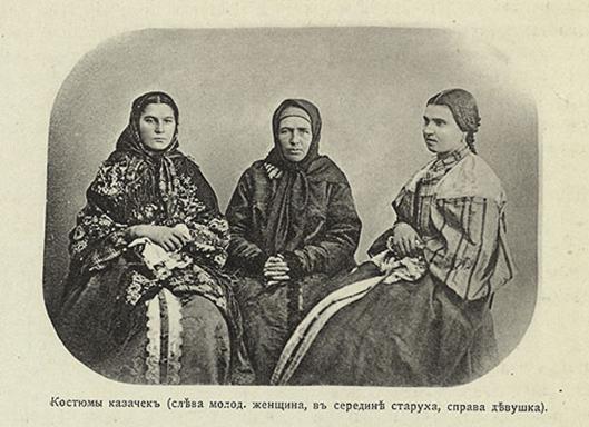 "Babas of Ural Cossacks / Kazaks (""Baba"" is a respectful designation of a woman in matriarchy; Baba is a teacher of wisdom in hindi) were wearing the same dress, as Russian-Aryans were wearing over millenia -- Sarafans and headscarves with swastika and flower patterns. This dress were worn by the Russian-Aryan hyksos-scythians, and by Russian-Aryans in Indostan (""sari""), and by Russian-Aryabns in Greece and Rome (sarafans as togas), over the entire thousand-year Roman Empire / Byzantium. ---------- Бабы Уральских Казаки (""Баба"" - уважительное обозначение женщины в матриархате; Баба -- учитель мудрости на хинди) носили ту же одежду, которую Русо-арии носили на протяжении тысячелетий -- Сарафаны и платки со свастичными и цветочными узорами. Эту одежду носили и русо-арийские гиксосы-скифы в Египте, и русо-арии в Индостане (""сари""), и русо-арии в Греции и Риме (сарафаны как тоги), на протяжении всей тысячелетней Римской Империи / Византии."