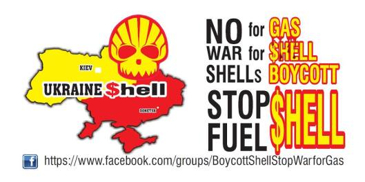 Royal Dutch Shell undertake criminal land grab and mass genocide of local residents in the Donetsk and Lugansk People's Republics in order to avoid paying compensation for land and property alienated for the Shale Gas Production by Shell in the area.