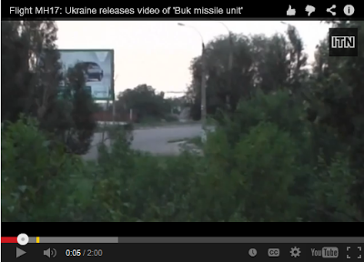 """Also, Ukro-Zio-Nazi released the fake video recording of the """"rebels transporting the BUK surface-to-air missile launcher across Russian-Ukrainian border"""". It was found out that the backdrop of the scene had a billboard of the city under the control of the Ukro-Zio-Nazi."""