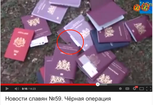 Dutch expired passports picked up at the location of the Malaysian Boeing 777 Flight MH17 crash.