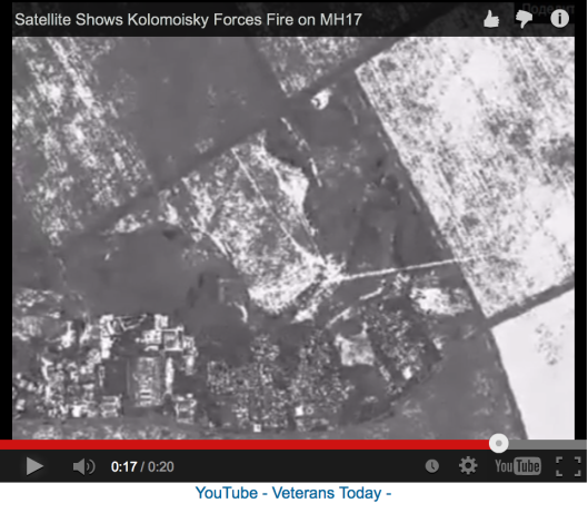 Satellite images show Kolomoyskyi Forces fire on MH17.