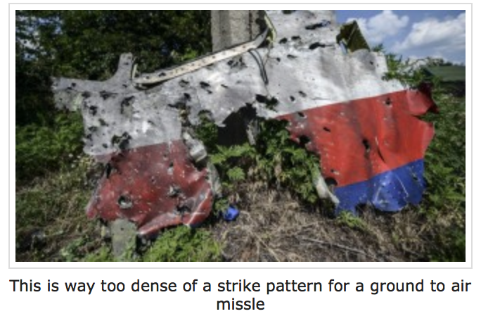 Strike pattern of the Malaysian MH17 crash is too dense for a ground to air missile, reports Gordon Duff, Senior Editor of the Veterans Today on July 27, 2014.