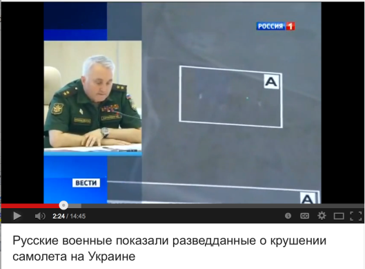 Russian Defence Ministry realised the data on the Ukro-Zio-Nazi moving the BUK launcher into the area of crash right right before the crash.