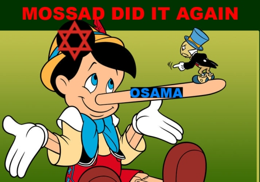 The Osama bin- Laden Bollywood production was so tiresome for Mossad, that from that time on, Mossad decided to shoot everything in California, and use its Mossad schmacks  to impersonate Islamist Terrorists and Neo-Nazi white supremacists.