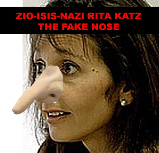 Zio-ISIS-Nazi Rita Katz the Fake Nose