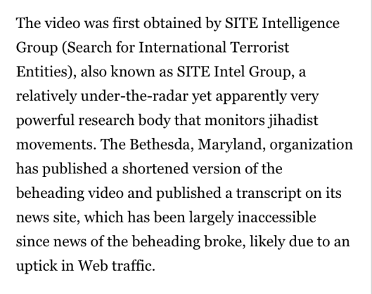 SITE INTEL GROUP IS ISIS
