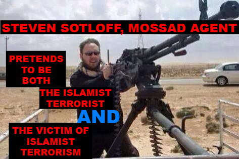 Steven Sotloff, a Mossad agent, pretends to be BOTH an Islamist terrorist AND a victim of Islamist terrorism.