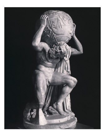 Atlas Atlante Farnese Roman statue from the 2nd century ad Naples Museum