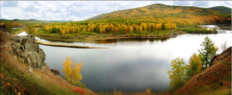 Река Амазар в Забайкальском Крае России.