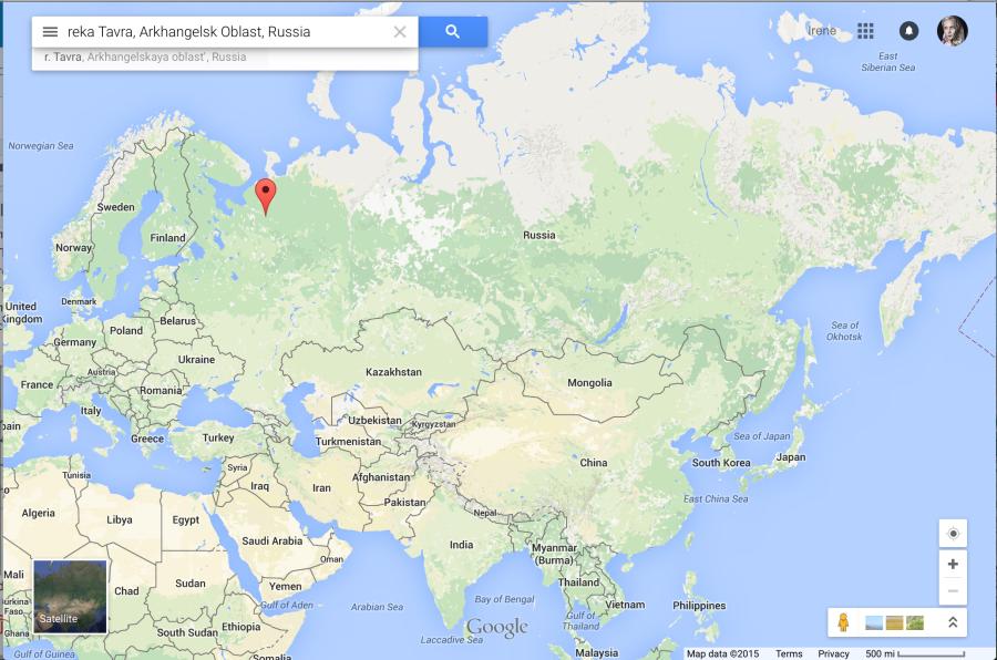 Река Тавра, Архангельская область, Россия. Есть так же в Архангельской области деревня Малая Тавра.