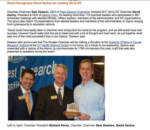 Дэвид Захри, СЕО и президент компаниии Zachry Corp.,