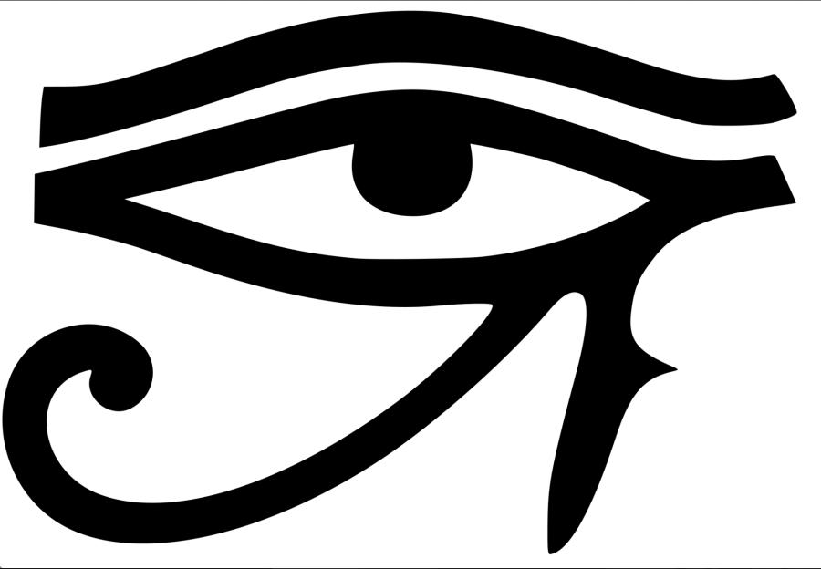 Глаз Гора-Сокола -- Глаз Ра / Солнца. Правый глаз Гора-Сокола представляет собой Солнце Ра, солнечный культ, путь прави, а левый глаз представляет собой Луну и Ночь -- Сета / Сату / Сатану (бога смерти и пустыни Верхнего Египта / Эфиопия и Северный Суда), лунный культ и левый путь.