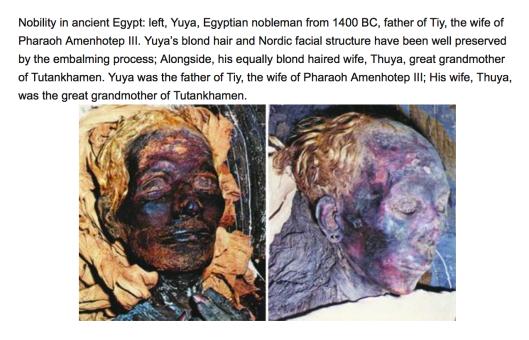 А это у нас ранние фараоны-блондины.