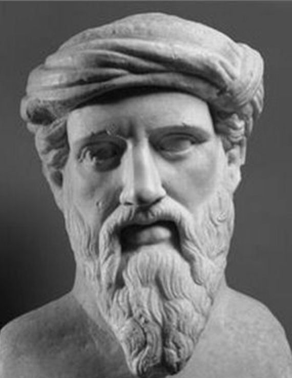 Pythagoras of Samos (570-495 BC) - Πυθαγόρας ὁ Σάμιος. The island of Samos is very close to the shore of Asia Minor, and Pythagoras clearly looks like Scythian / Russian-Aryan.