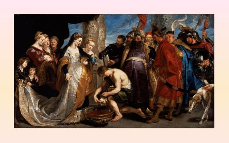 Руская / Скифская-Сакская / Кас-Сакская / Казачья Царица Томирис перед головой Кира. Картина маслом Питера Пауля Рубенса.