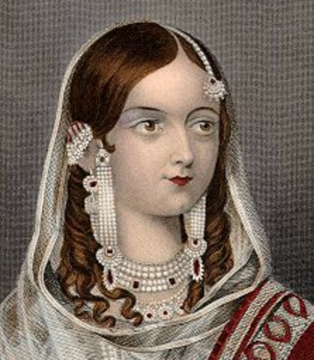 Любимая жена Бахадура 2, последнего Великого Хана Моголов, -- Зинат Махал (Могол) (Zinat Mahal).