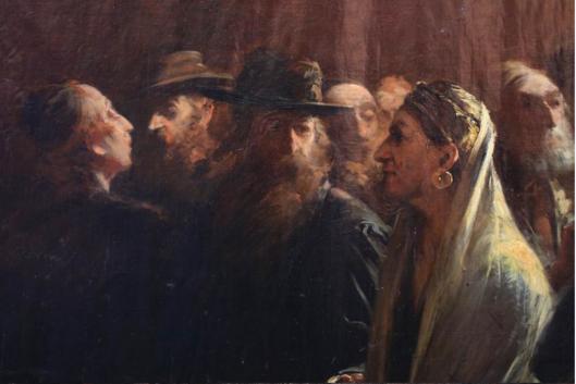 Munkácsy Mihály (Hungary), Tiszaeszlár  Human Sacrifice by Jews / Khazars, detail ---------- Мункачи Михали (Венгрия), ЧеловеческоеЖжертвоприношение Евреями / Хазарами в Тисаэсларе, деталь
