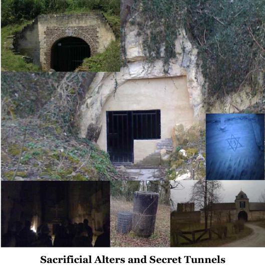 Сатанинская церковь с алтарём для человеческих жертвоприношений в пещерах Маастрихта