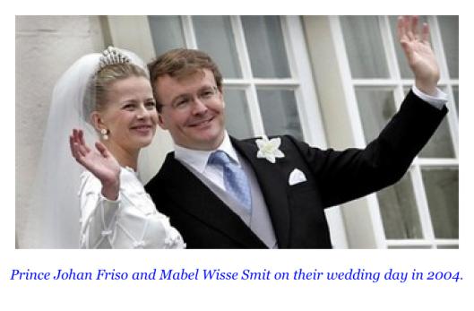 Педофил Принц Фризо и его невеста Мейбел Виссе Смит в день свадьбы