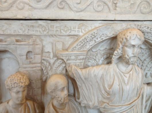 Мраморный саркофаг из Вероны, Склеп Сан-Джованни в Валле, 4 век н.э., Центральный Романо-Германской Музей, Майнц, Германия. ---------- Marble sarcophagus from Verona, Crypt of San Giovanni in Valle, 4th century AD, Romano-Germanic Central Museum, Mainz, Germany.