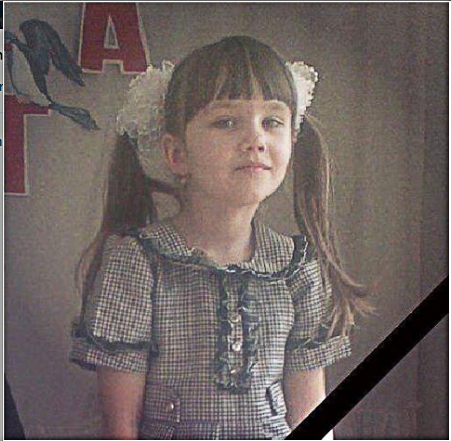 On March 16, 2015, at 14:42 (2:42 pm), in Konstantinovka, Donetsk region, an 8-year old girl, Polina, was killed under the wheels of the Ukro-Fascist Zio-Nazi armed vehicle. Her mother and a sibling in a stroller barely survived.