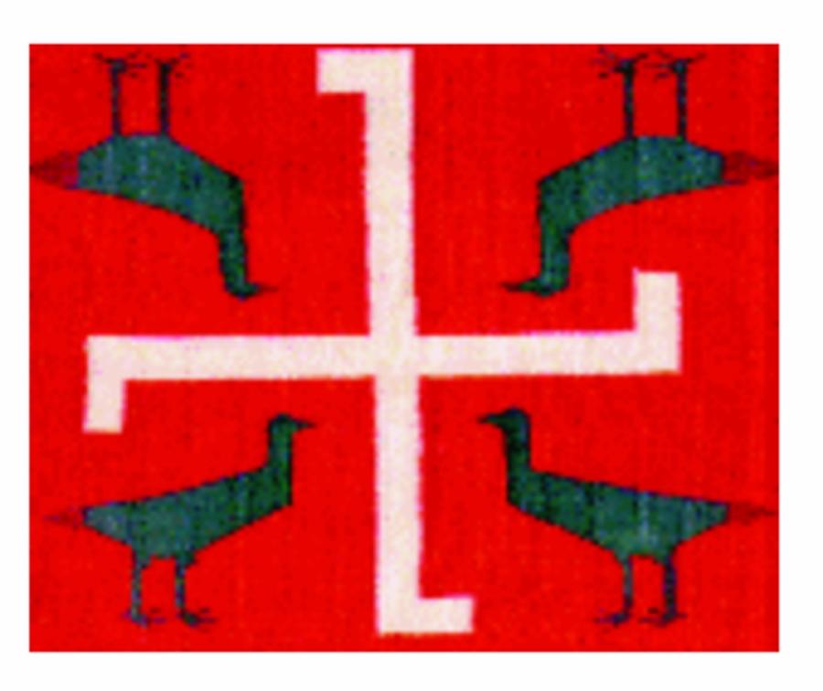 Индейцы Навахо позаимствовали симбол Свастики у русов-скифов, которые открыли и освоили Северо-Американский континент за тысячелетия до Колумба.
