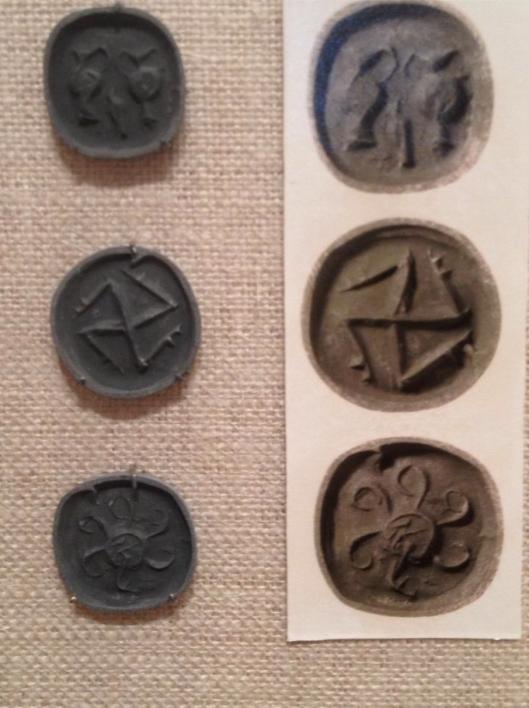 Русо-Скифские монеты на Кипре, 1800-1700 до н.э., © Ирина Цезарь, Музей Метрополитен, Нью-Йорк, июнь 2013 года