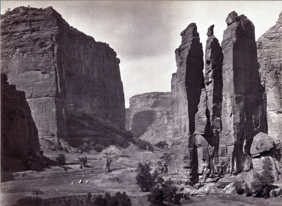Canyon de Chelly, 1873, photograph by O'Sullivan, Timothy H., 1840-1882.