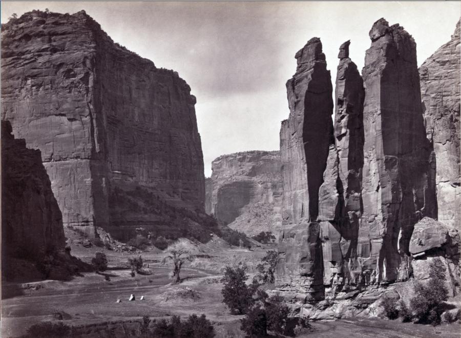Canyon de Chelly, 1873, photograph by O'Sullivan, Timothy H., 1840-1882.