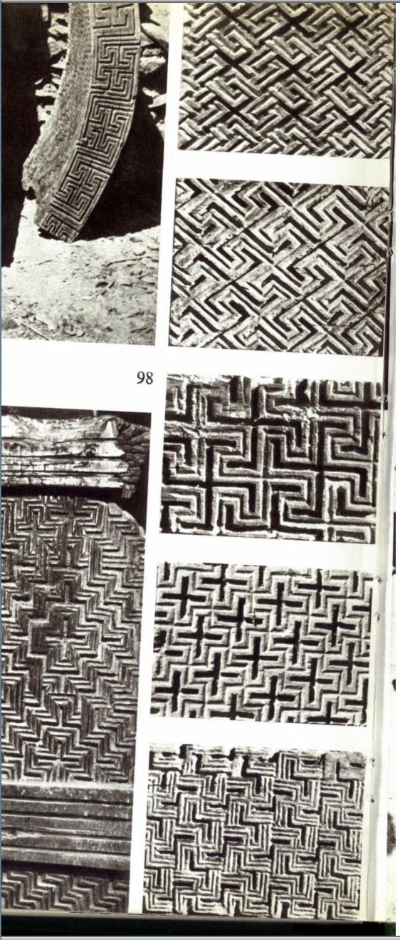 Гаммадионы / Гамматические Кресты Христианских Православных Церковей, вырубленных из камня в Лалибеле, Эфиопия, в 12 веке н.э, по приказу Царя Лалибелы (всего одиннадцать Гамматических / Свастичных Церквей).