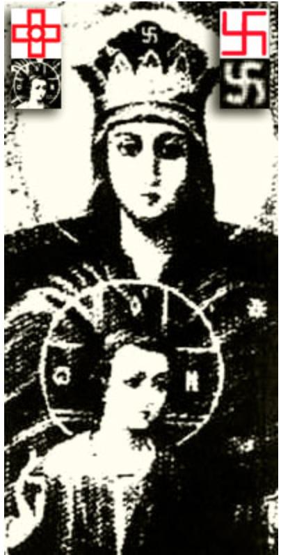 Гаммадион как Свастика-Фаш и Свастика-Покоевая – на иконе Богоматери-Державной: