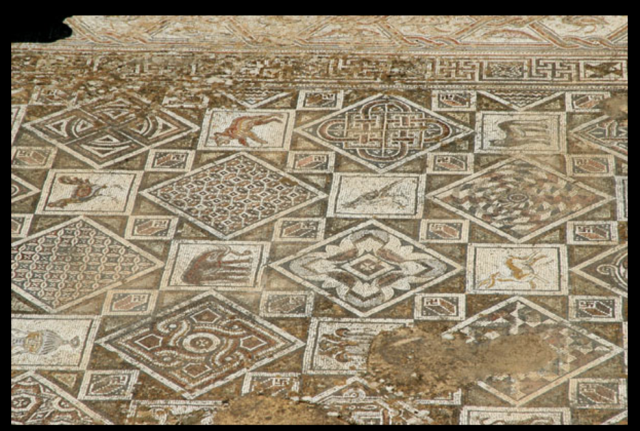 Гаммадионы в Церкви Святого Иоанна Крестителя, Гараса, Северный Иордан (Church of St, John the Baptist, Jerash).