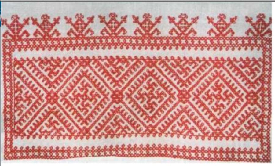 Гаммадион - Тетраграмматон на русских вышивках, которым более 7000 лет по до-петровскому летоисчислению, и не менее 70,000 лет по раскопкам в Костенках, Воронеж.