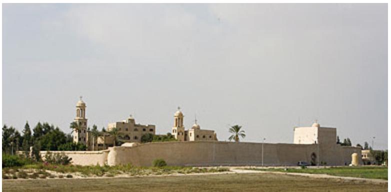 Христианский Православный Сирийский Монастырь в Египте, Вади Натрун (Wadi Natrun), 6 век н.э.