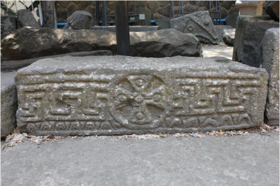 Гаммадион в Археологическом Музее в Катсрине, Голан. ----------  Gammadion in the Golan Archeological Museum of Katsrin.