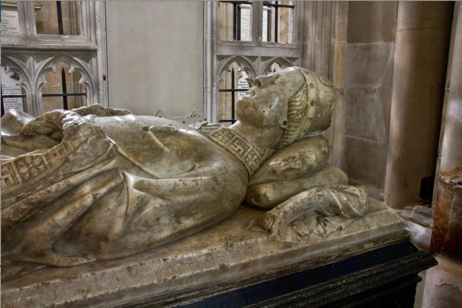 William of Edington Bishop of Winchester 1346-66. Edington served as both Treasurer and Chancellor of England, and was Bishop during the period when the Black Death ravaged England.