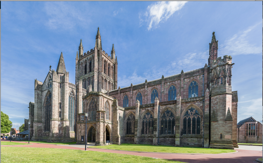 Hereford Cathedral, 1079, England.