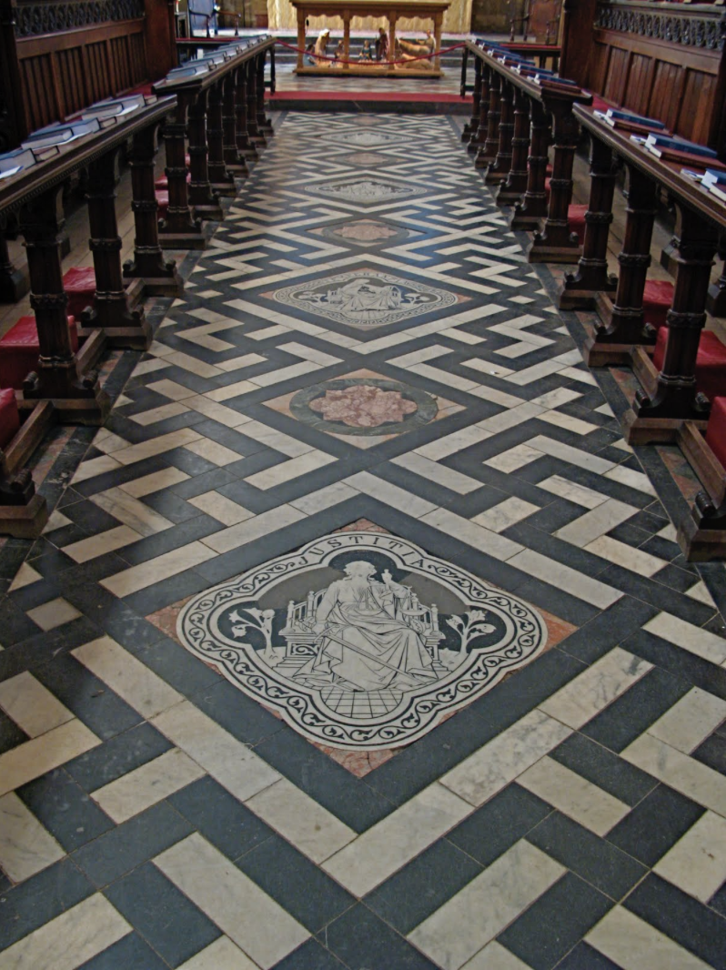 Gammadion at the Christ Church Cathedral, Oxford, England: