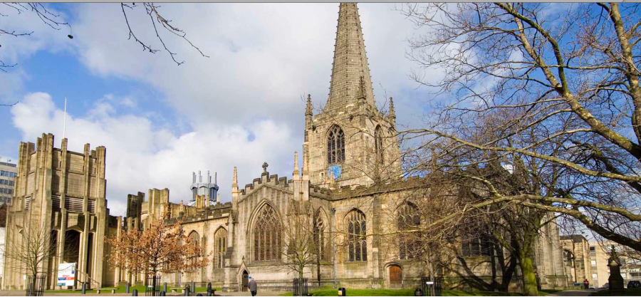 Sheffield Cathedral / The Cathedral Church of St Peter and St Paul, England, 12th century.