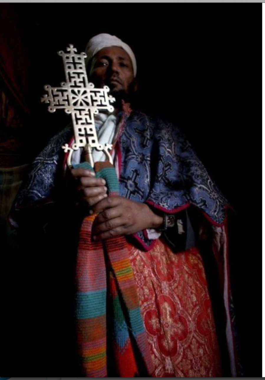 Gammadion in the Christian Orthodox Cross, the Church of Saint George in Lalibela, Ethiopia, 12th century.
