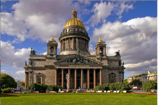 Saint Isaac's Cathedral, 1818 to 1858, St. Petersburg, Russia.