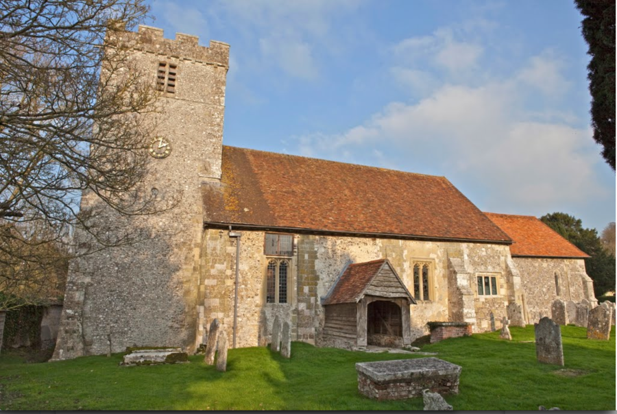 St Andrew's Church, near Great Durnford in Wiltshire, 12th century, England.