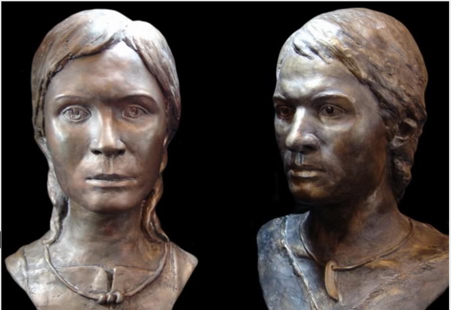 Реконструкция захоронения Русо-Арийской Принцессы и молодого мужчины около Аркаима (3,500 до н.э.).